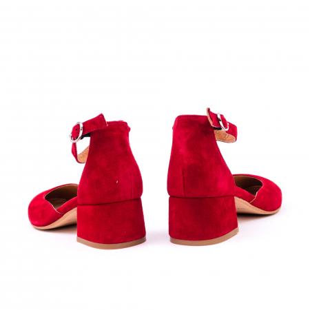 Pantofi decupati dama LFX 221 rosu velur6
