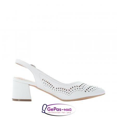 Pantofi decupati dama, piele naturala, 49175-804