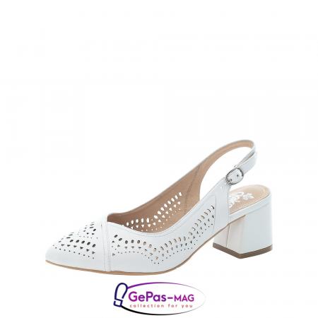 Pantofi decupati dama, piele naturala, 49175-800