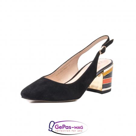 Pantofi decupati dama, piele naturala de antilopa, JI1K1390