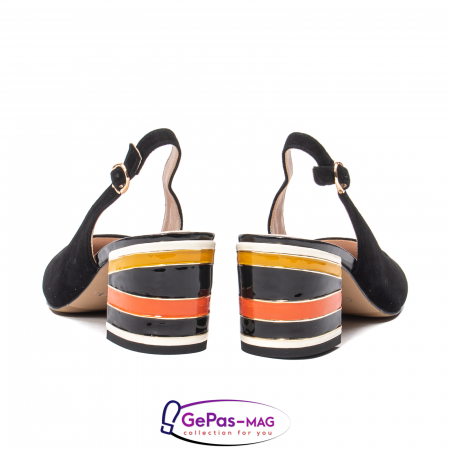 Pantofi decupati dama, piele naturala de antilopa, JI1K1396