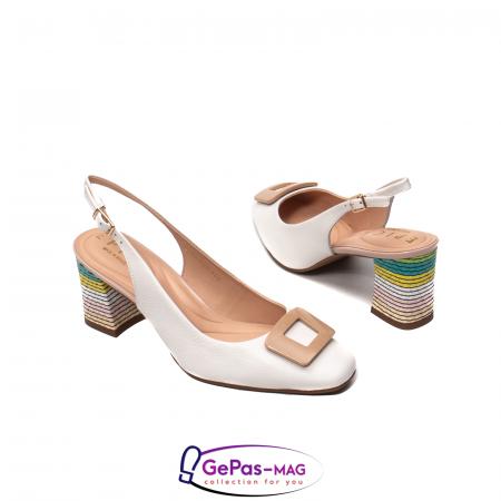 Pantofi decupati dama, piele naturala, OE100902