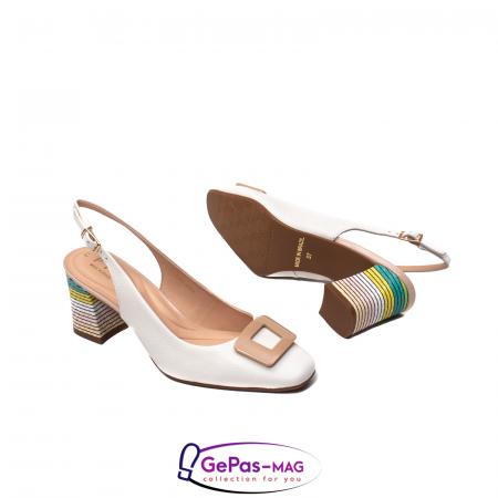 Pantofi decupati dama, piele naturala, OE100903