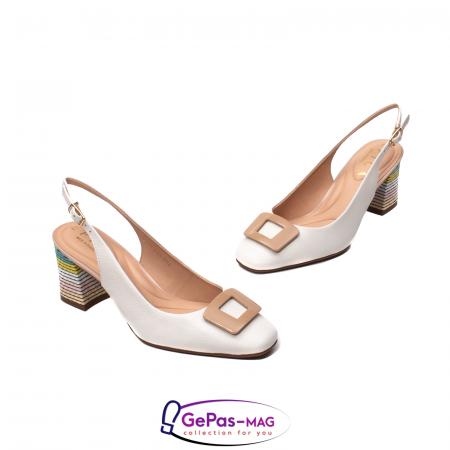 Pantofi decupati dama, piele naturala, OE100901