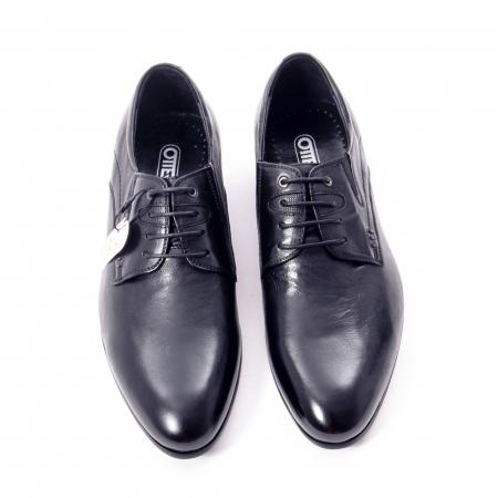 Pantofi eleganti barbat din piele naturala Otter QRA33531 01-N,negru5