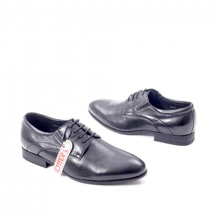 Pantofi eleganti barbat din piele naturala Otter QRA33531 01-N,negru2