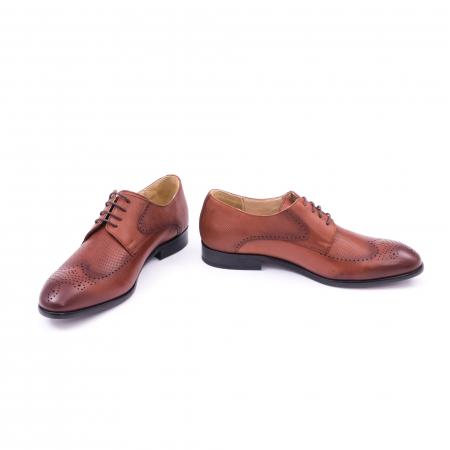 Pantofi barbati eleganti, piele naturala, Nevalis 116, coniac [4]