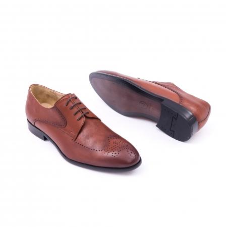 Pantofi barbati eleganti, piele naturala, Nevalis 116, coniac [3]