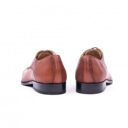 Pantofi barbati eleganti, piele naturala, Nevalis 116, coniac [6]