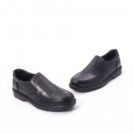 Pantofi eleganti barbati piele naturala, Catali 192561, negru1