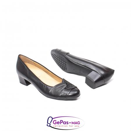 Pantofi eleganti dama din piele naturala neteda cu toc mic AR12-358113