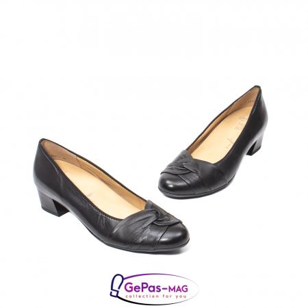 Pantofi eleganti dama din piele naturala neteda cu toc mic AR12-358111
