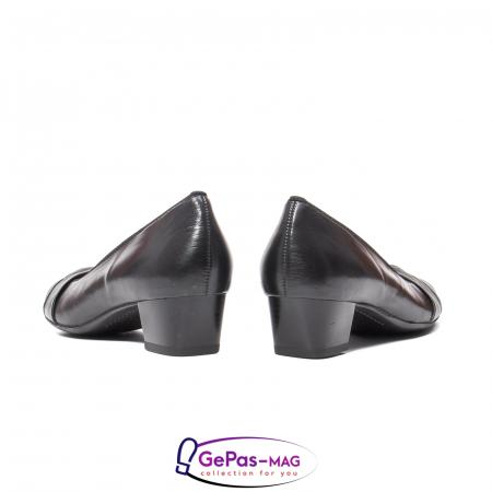 Pantofi eleganti dama din piele naturala neteda cu toc mic AR12-358116