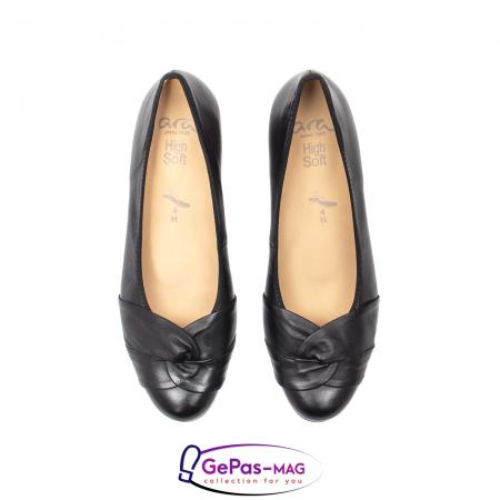 Pantofi eleganti dama din piele naturala neteda cu toc mic AR12-358115
