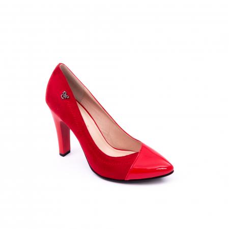 Pantofi eleganti dama 6042 rosu0