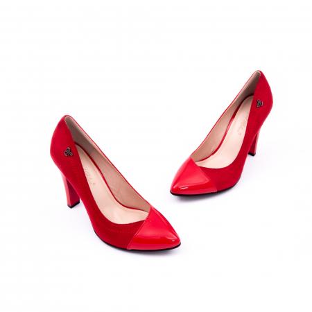 Pantofi eleganti dama 6042 rosu1