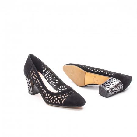 Pantofi eleganti dama, piele naturala 675, negru [3]