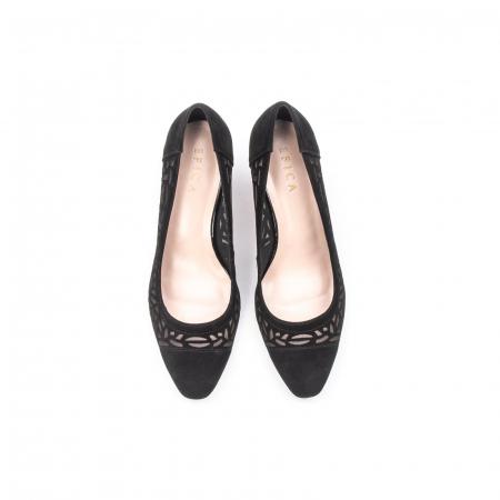 Pantofi eleganti dama, piele naturala 675, negru [5]