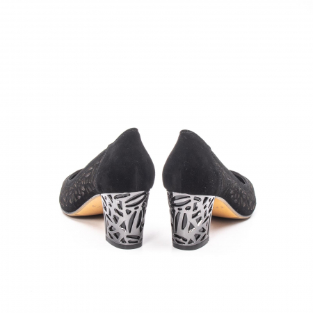 Pantofi eleganti dama, piele naturala 675, negru [6]
