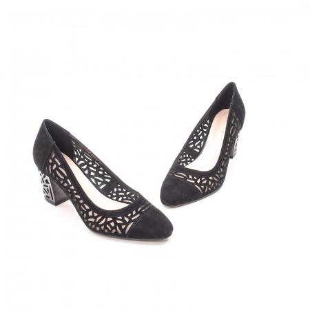 Pantofi eleganti dama, piele naturala 675, negru [1]