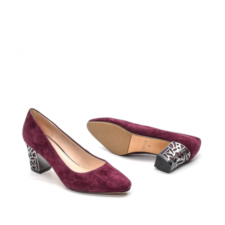 Pantofi dama eleganti din piele naturala, JIXQ675-DA037, bordo - Epica [3]