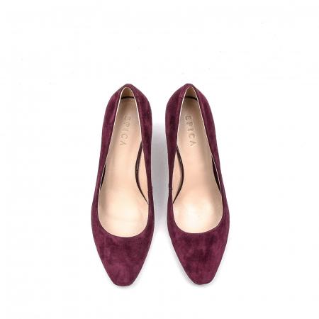 Pantofi dama eleganti din piele naturala, JIXQ675-DA037, bordo - Epica [5]