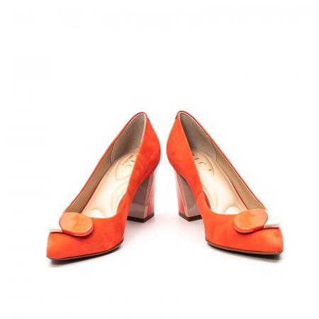 Pantofi dama eleganti, piele antilopa, EP 9628-538-6694