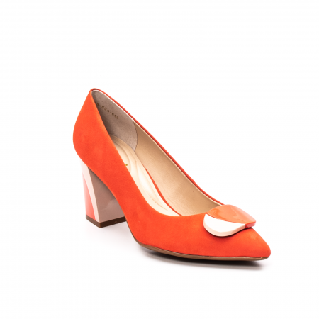 Pantofi dama eleganti, piele antilopa, EP 9628-538-6690