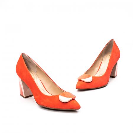 Pantofi dama eleganti, piele antilopa, EP 9628-538-6691