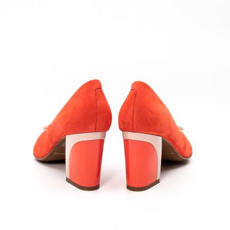 Pantofi dama eleganti, piele antilopa, EP 9628-538-6696
