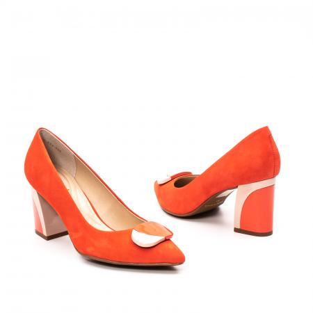 Pantofi dama eleganti, piele antilopa, EP 9628-538-6692