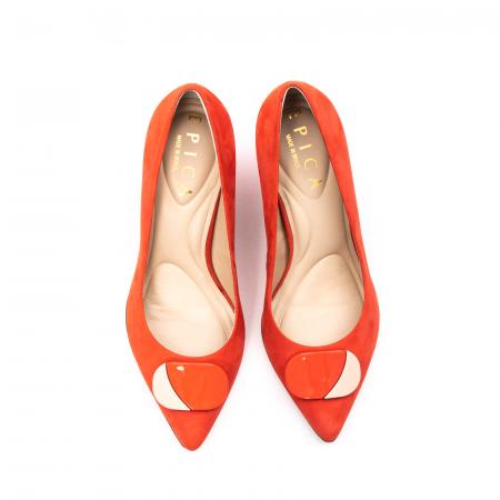 Pantofi dama eleganti, piele antilopa, EP 9628-538-6695