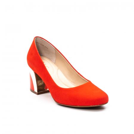 Pantofi dama eleganti, piele antilopa, EP 9690-535-6700