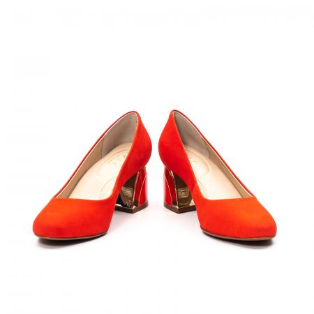 Pantofi dama eleganti, piele antilopa, EP 9690-535-6704