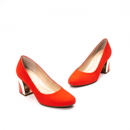 Pantofi dama eleganti, piele antilopa, EP 9690-535-6701