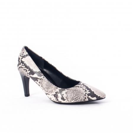 Pantofi eleganti dama piele naturala 3138030, python grau0