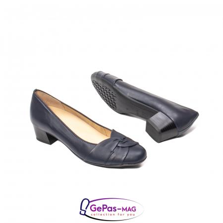 Pantofi eleganti dama, piele naturala, 12-35811 Bleumarin3