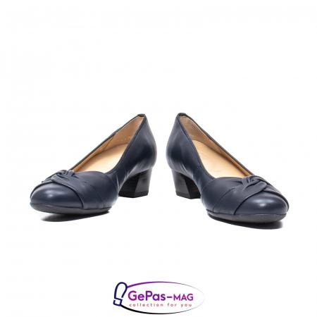 Pantofi eleganti dama, piele naturala, 12-35811 Bleumarin4
