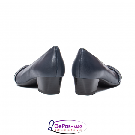 Pantofi eleganti dama, piele naturala, 12-35811 Bleumarin6