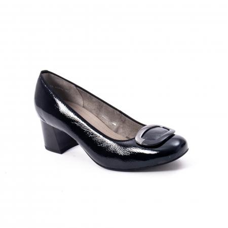 Pantofi eleganti dama ,piele naturala Ara 12-35534, negru lac0
