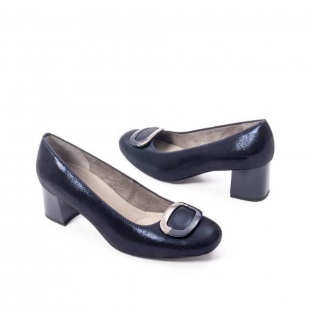 Pantofi eleganti dama, piele naturala Ara 12-35534, bleumarin2