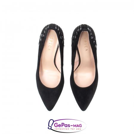 Pantofi eleganti dama, piele naturala de antilopa, C09A1974