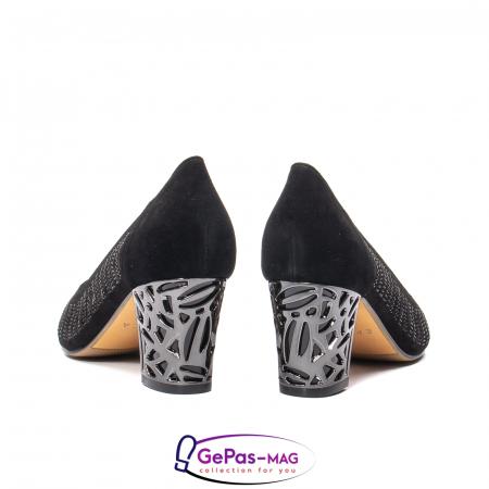 Pantofi dama cu toc mediu din piele naturala de antilopa , EP8563T6