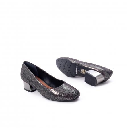 Pantofi eleganti dama, piele naturala, Epica 8750, gri metal3