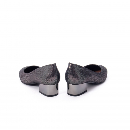 Pantofi eleganti dama, piele naturala, Epica 8750, gri metal6
