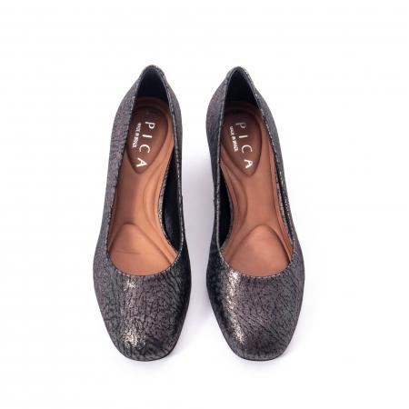 Pantofi eleganti dama, piele naturala, Epica 8750, gri metal5