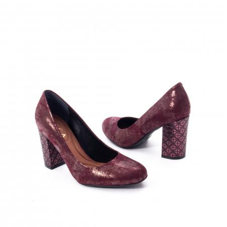 Pantofi eleganti dama, piele naturala, Epica 9766 bordo nubuc5
