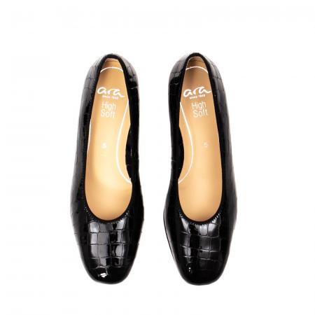 Pantofi eleganti dama, piele naturala lacuita croco, AR11838 26H5