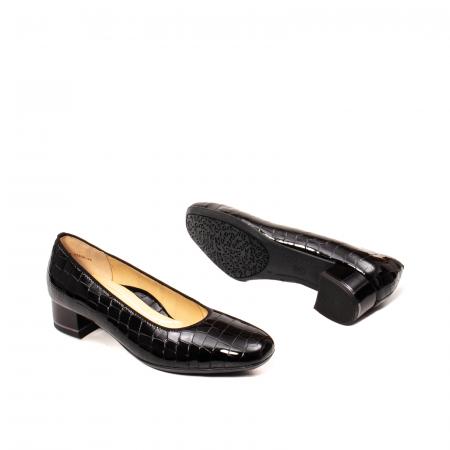 Pantofi eleganti dama, piele naturala lacuita croco, AR11838 26H3