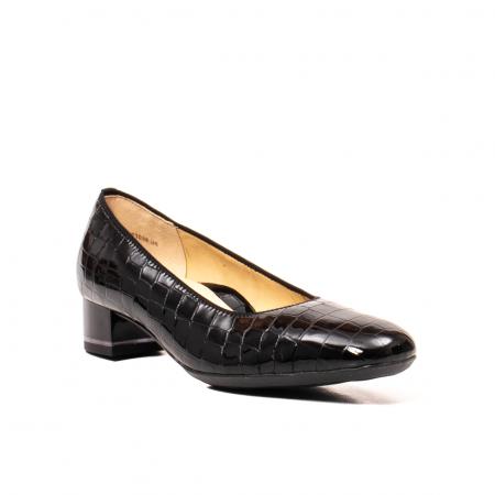 Pantofi eleganti dama, piele naturala lacuita croco, AR11838 26H0